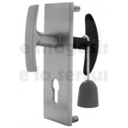 302360 Poignée pour  serrure  carre 9 mm avec plaque NEMEF