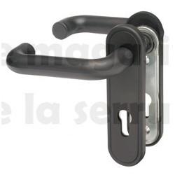 2916/02 C8 Poignée NOIRE carre 8 mm avec plaque NEMEF