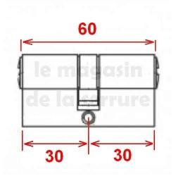 Cylindre européen TESA TE5 30X30 laiton