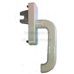 214556 Poignée 1 fourche / PVC Blanche SCHUCO