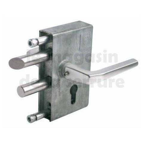 Serrure portail JDC 104 tube carré 30-50