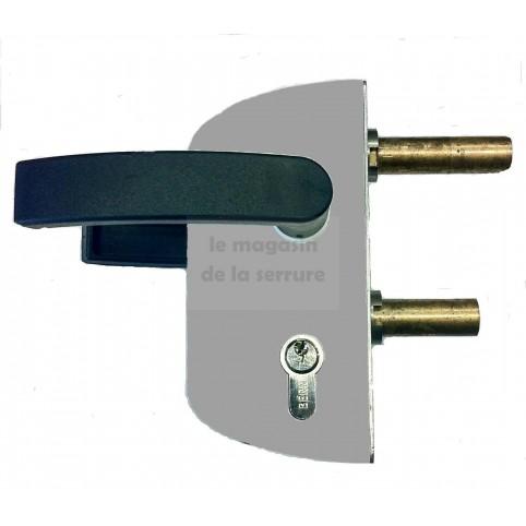 Serrure portail LOCINOX LC40 PVC GRIS pour tube carré de 40