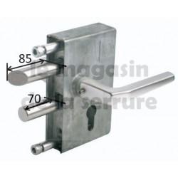 Serrure portail JDC 104 tube carré 60