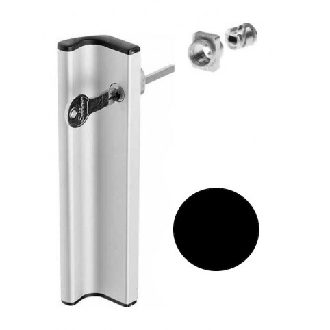 Poignée tirage AVEC kit cylindre NOIRE  coulissant extérieur  SOBINCO