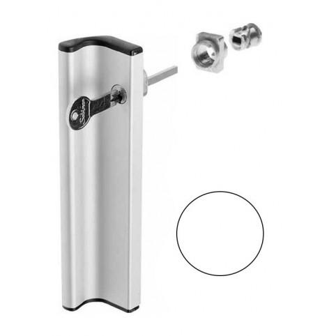 Poignée tirage AVEC kit cylindre BLANCHE coulissant extérieur  SOBINCO