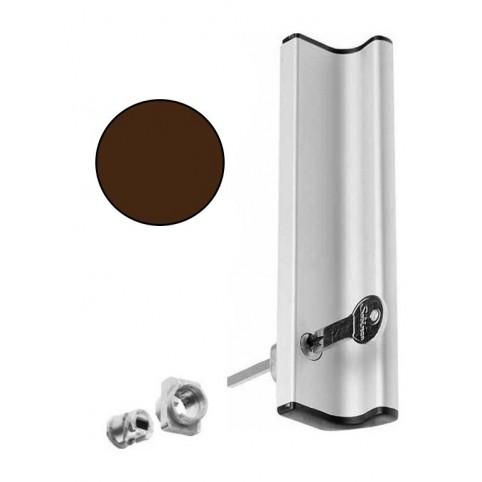 Poignée tirage AVEC kit cylindre MARRON coulissant extérieur  SOBINCO