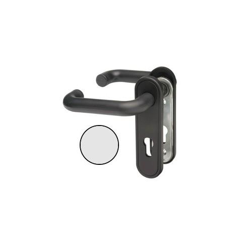 Poignée GRISE pour  serrure NEMEF carre 8 mm avec plaque