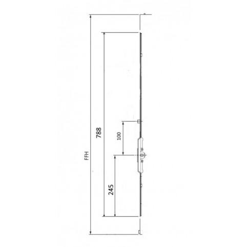 GK572 Crémone AUBI axe 7.5 FFH 800-1100
