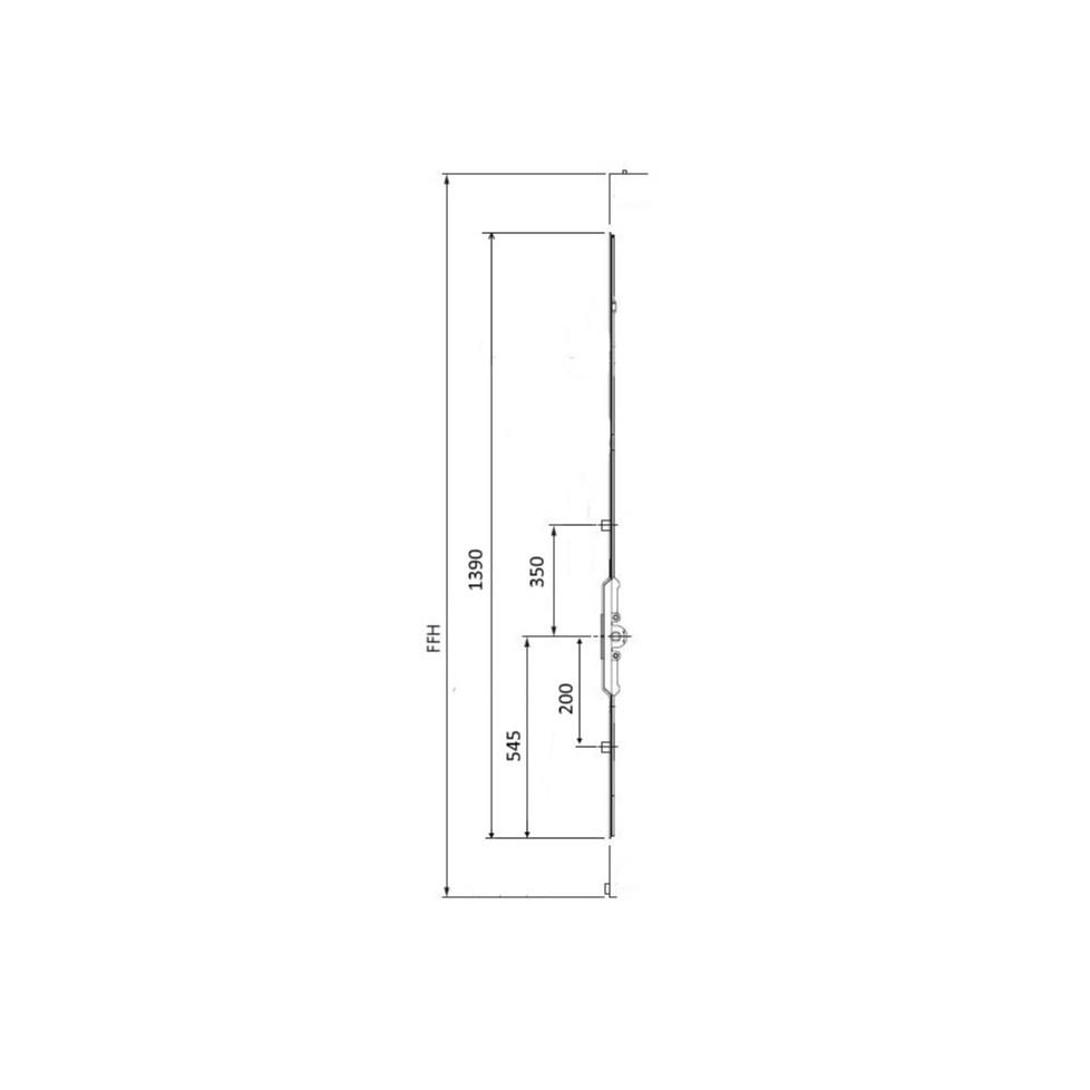 GK574 Crémone AUBI axe 7.5 FFH 1400-1700