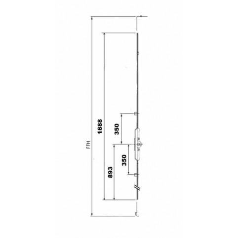 GK575 Crémone AUBI axe 7.5 FFH 1700-2000