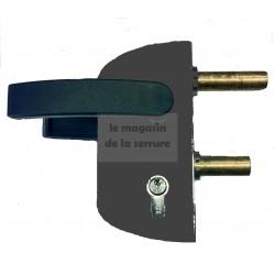 Serrure portail LOCINOX LC40 PVC NOIRE pour tube carré de 40