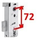 1769/23 72 axe à 65 mm DIN R Serrure NEMEF