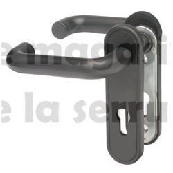 2916/02 C9 Poignée NOIRE  carre 9 mm avec plaque NEMEF
