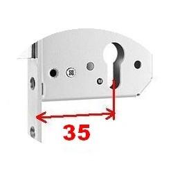 Serrure KFV 49 1 point  92/35 mm T24