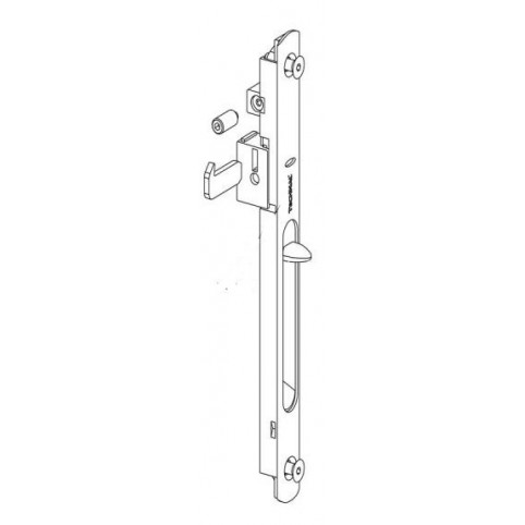 T3079.1644 Cuvette simple BLANCHE coulissant TECHNAL