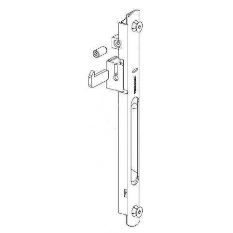 T3060.1644 Cuvette simple BLANCHE coulissant TECHNAL