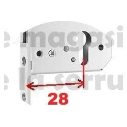 204048 axe 28 BOITIER Crémone MACO 3 galets IS